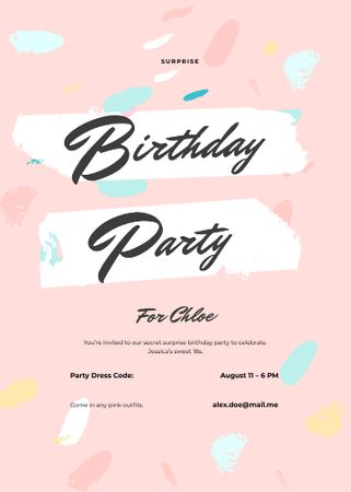 Template di design Birthday Surprise Party Invitation