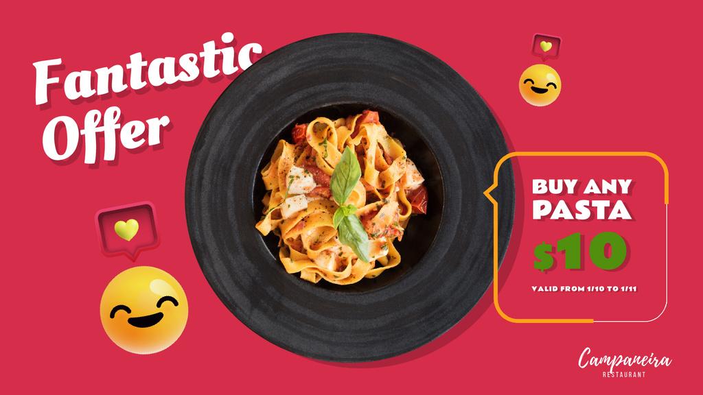 Restaurant Promotion Italian Pasta Dish — ein Design erstellen