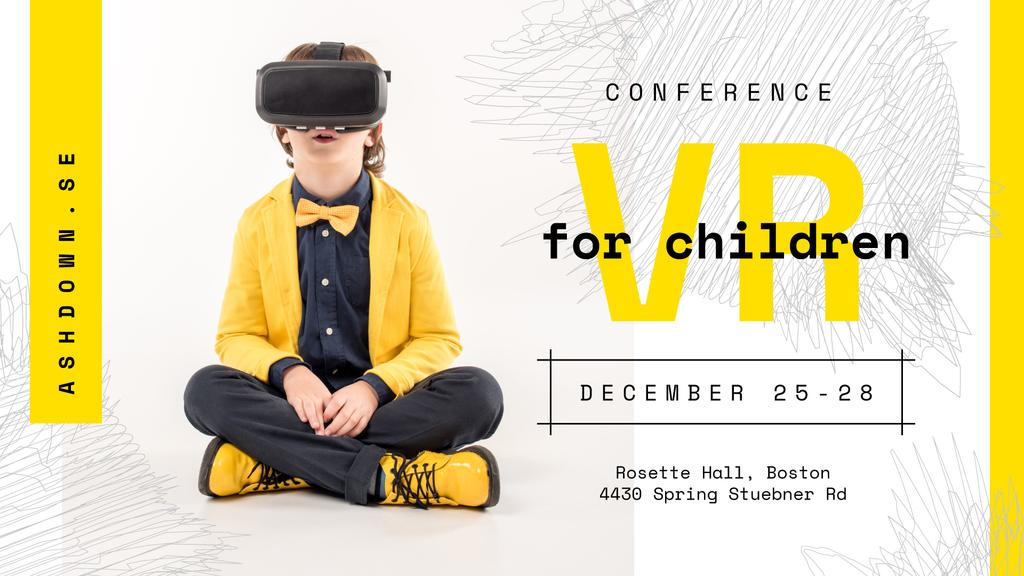 Tech Conference Kid in VR Glasses — Створити дизайн