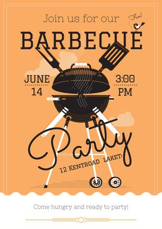 Barbecue party invitation Posterデザインテンプレート