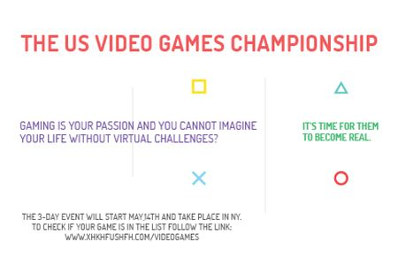 Video games Championship Gift Certificate Modelo de Design