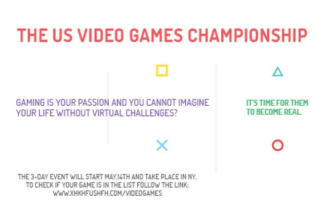 Video games Championship Gift Certificate Design Template