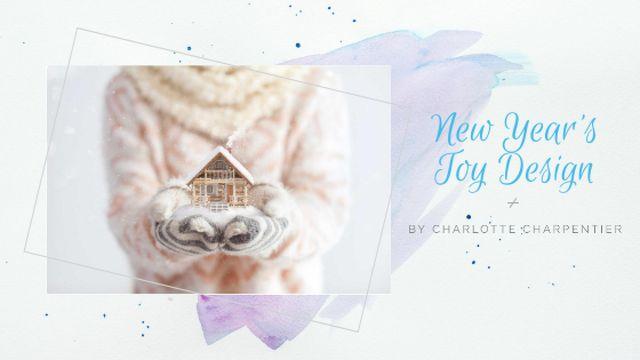 Hands holding house model for New Year Title Tasarım Şablonu