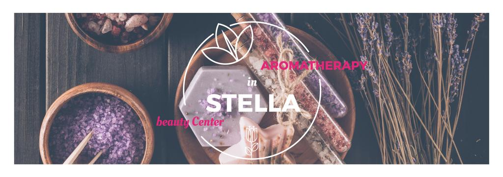 Aromatherapy in Stella beauty center poster — Modelo de projeto