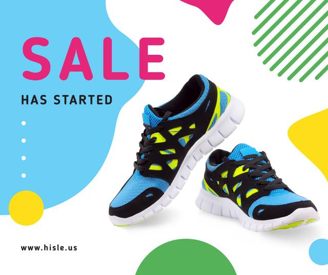 Ontwerpsjabloon van Facebook van Pair of athletic Shoes on sale