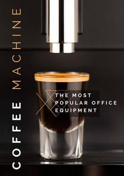 Coffee machine poster
