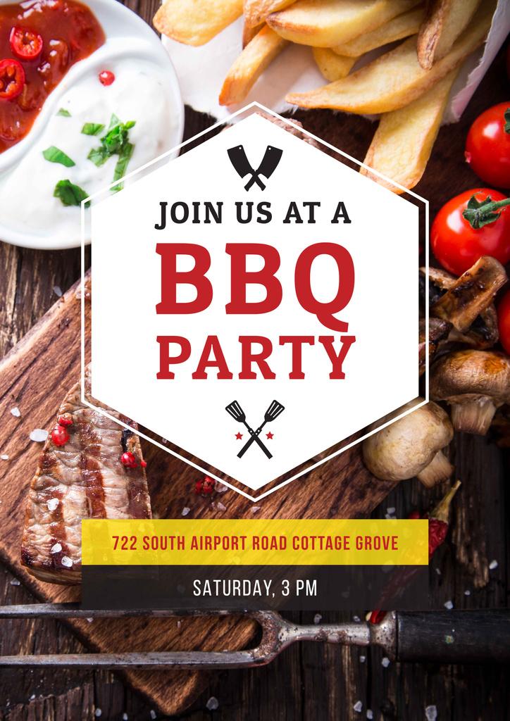 BBQ party Invitation — Crea un design