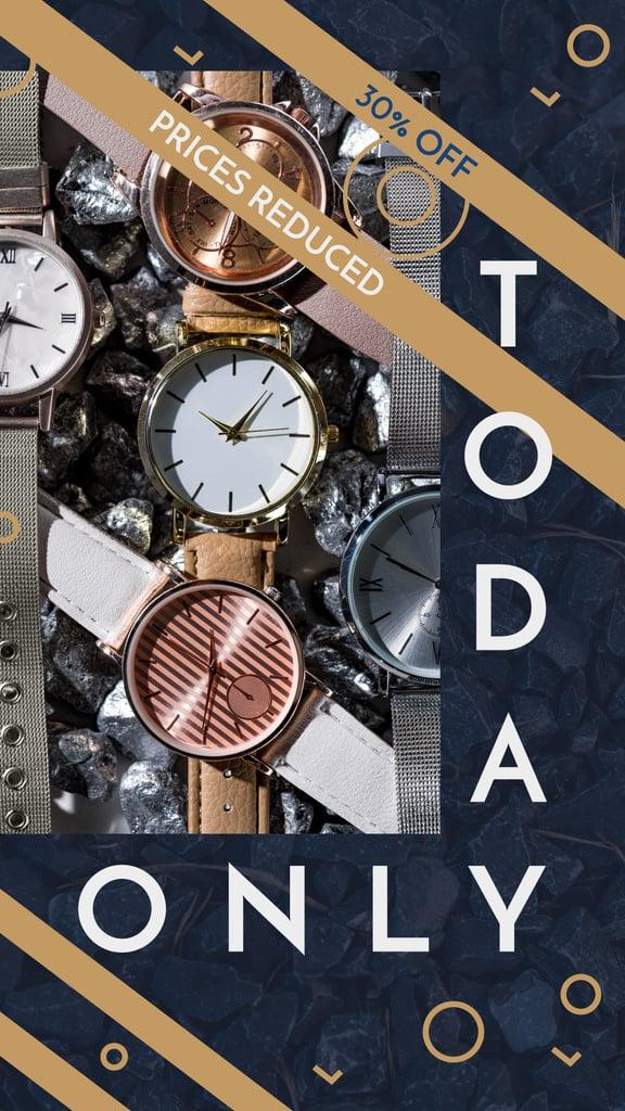 Stylish watches with belt — Créer un visuel