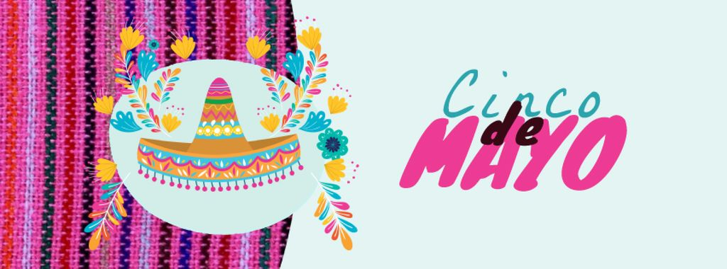 Cinco de Mayo Mexican holiday hat — Modelo de projeto