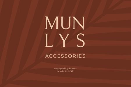 Template di design Accessories ad on red Leaves Label