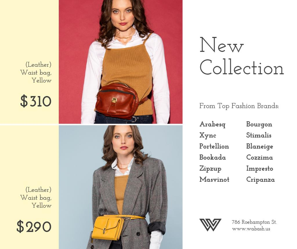 Accessories Store Ad Women with Waist Purses — Crear un diseño
