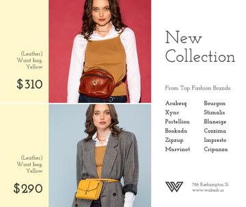 Accessories Store Ad Women with Waist Purses