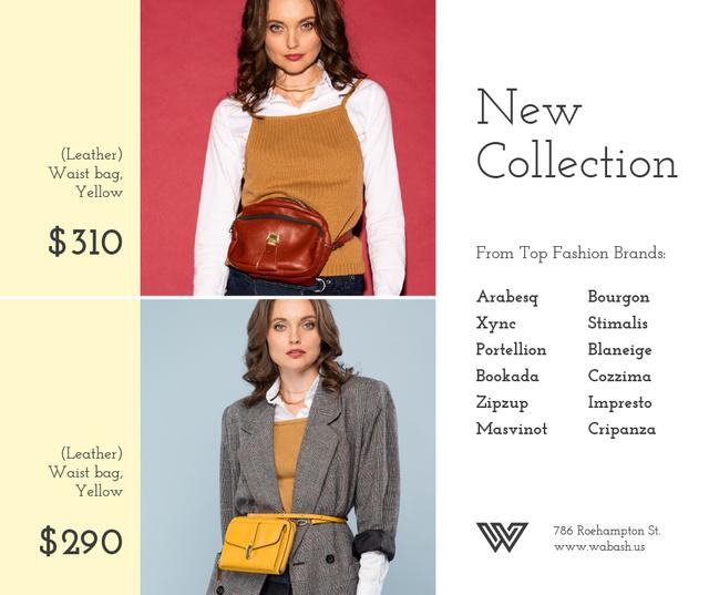 Template di design Accessories Store Ad Women with Waist Purses Facebook