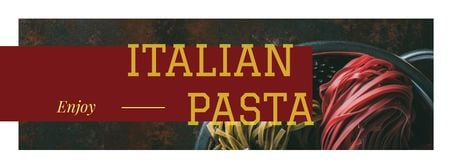 Modèle de visuel Colorful Italian pasta - Facebook cover