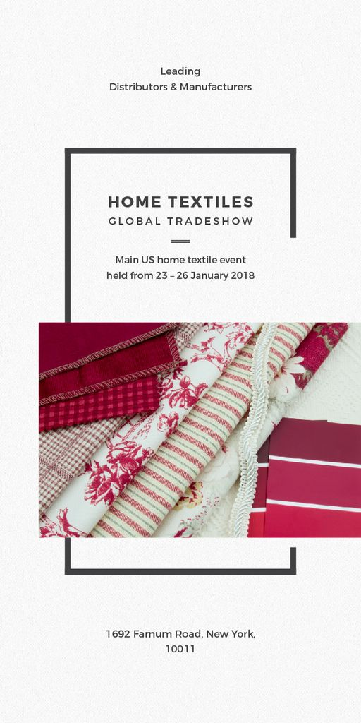Template di design Home Textiles Event Announcement in Red Graphic