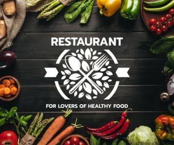 restaurant for lovers of healthy food poster