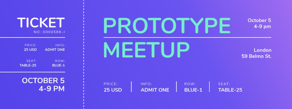 Business Meetup on Purple Gradient — Створити дизайн