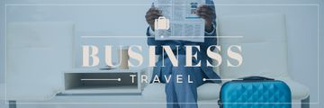 Businessman with Travel Suitcase