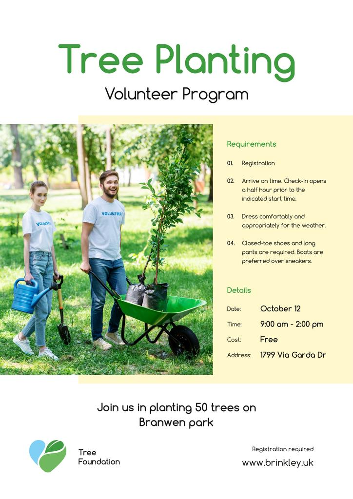 Volunteer Program Team Planting Trees — Modelo de projeto