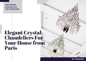 Elegant crystal chandeliers from Paris