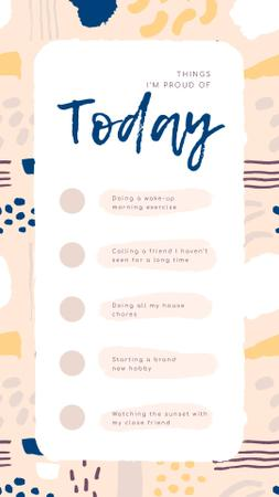 Template di design Check list for Day to be Proud of Instagram Story