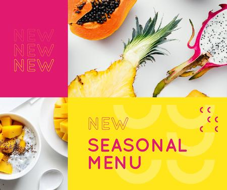 Plantilla de diseño de Fresh tropical fruits menu Facebook