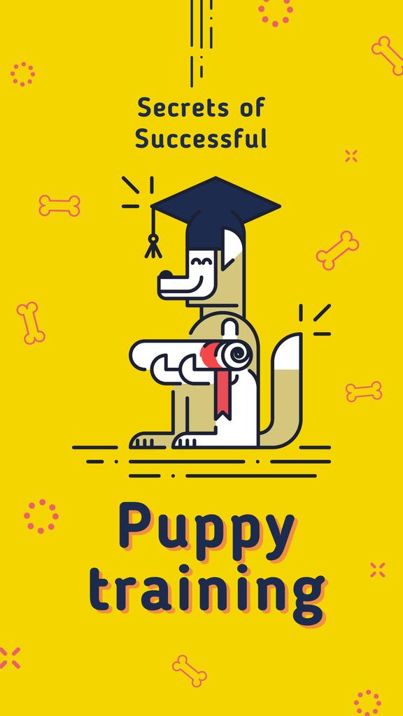 Funny dog with diploma — ein Design erstellen
