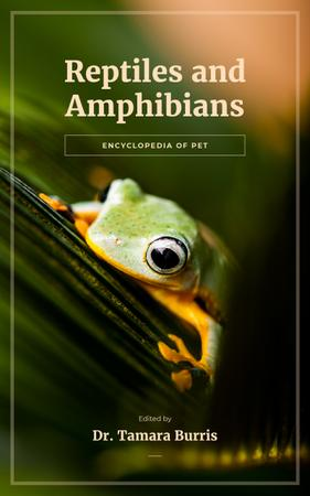 Plantilla de diseño de Green Frog on Leaf Book Cover