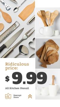 Kitchenware Ad Wooden Utensils Set