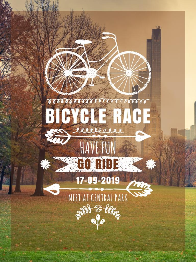 Bicycle race announcement in Park — Crea un design