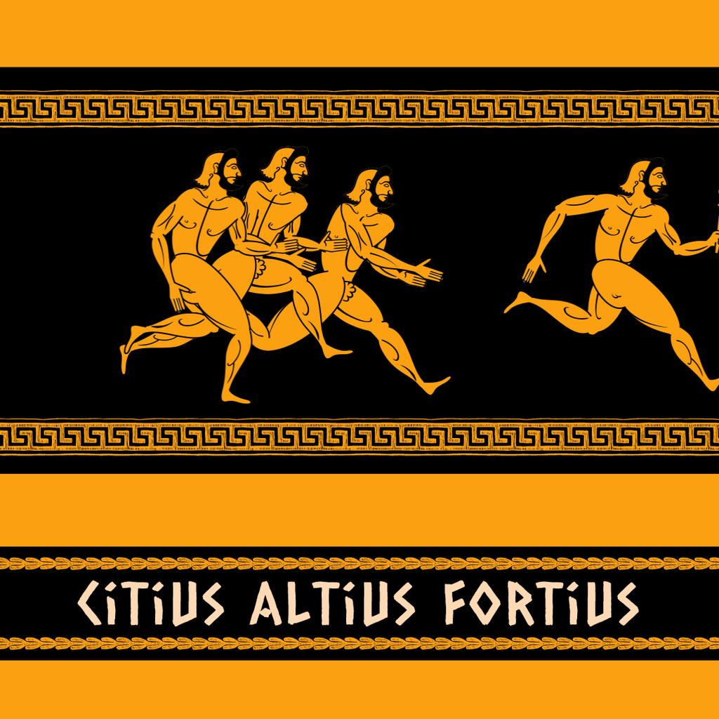Ancient Marathon Race Athletes — Создать дизайн