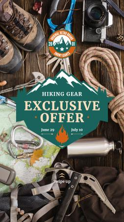 Plantilla de diseño de Hiking Gear Offer Travelling Kit Instagram Story