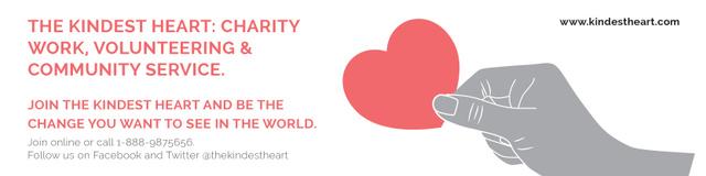 Designvorlage The Kindest Heart Charity Work für Twitter