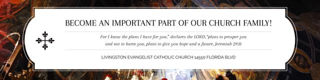 Modèle de visuel Evangelist Catholic Church Invitation - Twitter
