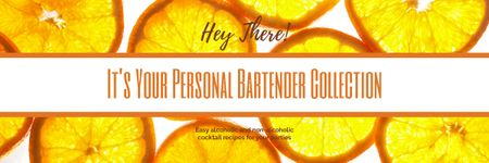 Personal bartender collection Ad with Oranges Email header – шаблон для дизайну