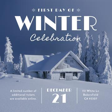 Advertisement poster of first day of winter celebration