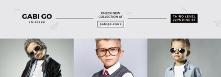 Modèle de visuel Children clothing store with stylish kids - Tumblr