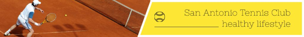 Tennis Club Ad Player at the Court — Maak een ontwerp