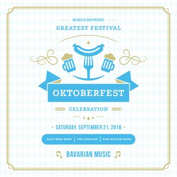 Traditional Oktoberfest treat for festival invitation