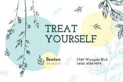 Spa Salon Offer with Plant Sketches