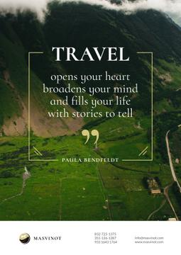 Inspiration Quote in majestic Mountains background