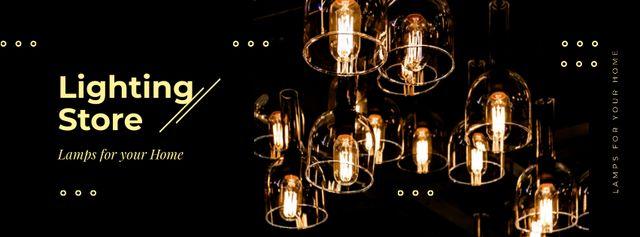 Plantilla de diseño de Bulbs with warm light Facebook cover