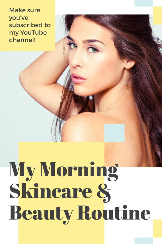 Skincare Routine Tips Woman with Glowing Skin — Crea un design