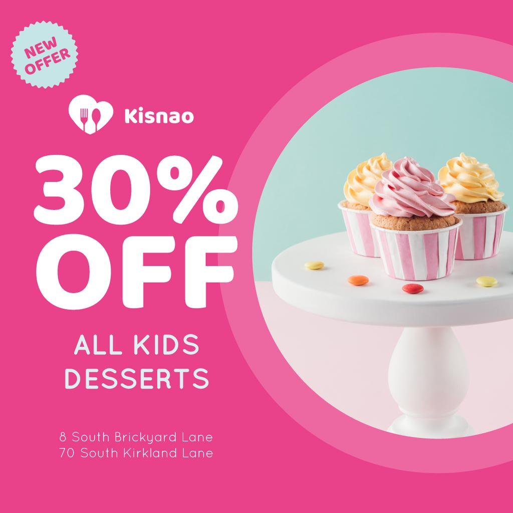Kids Desserts Offer Sweet Cupcakes — Створити дизайн