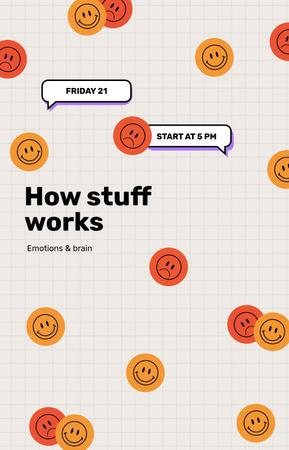Designvorlage Emotions lecture with Smiley Stickers für IGTV Cover