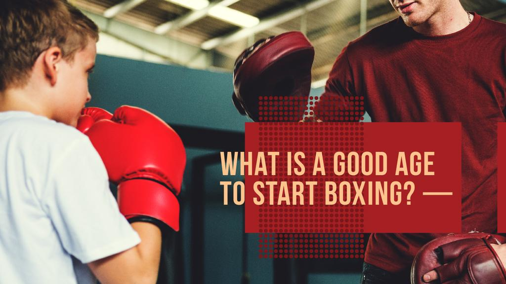 Kids Boxing Classes Boy and Coach Training | Youtube Thumbnail Template — Maak een ontwerp