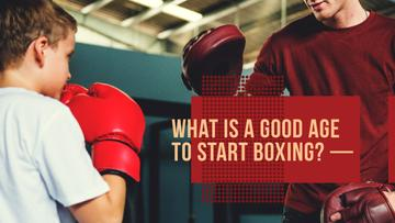 Kids Boxing Classes Boy and Coach Training | Youtube Thumbnail Template