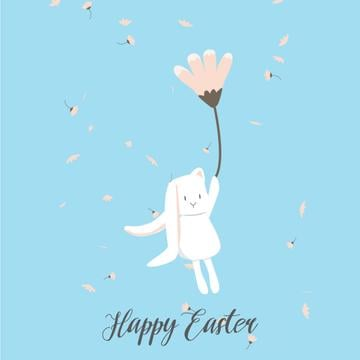 Bunny flying on a flower