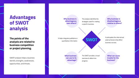 Ontwerpsjabloon van Mind Map van Advantages of SWOT analysis