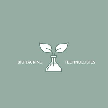 Bio Technologies Plant in Flask | Logo Template